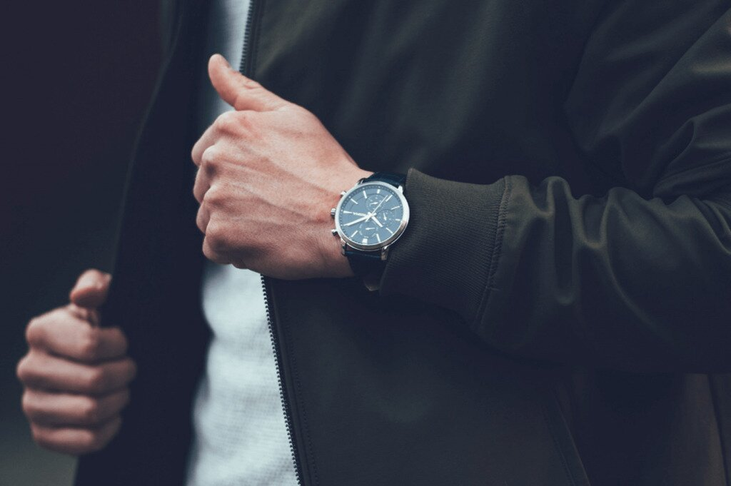 Man wearing a watch