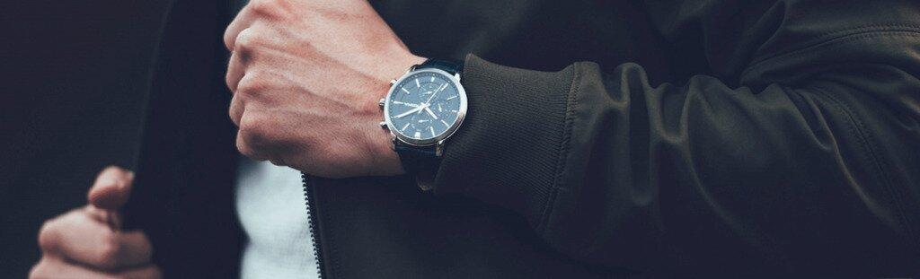 Man wearing a watch