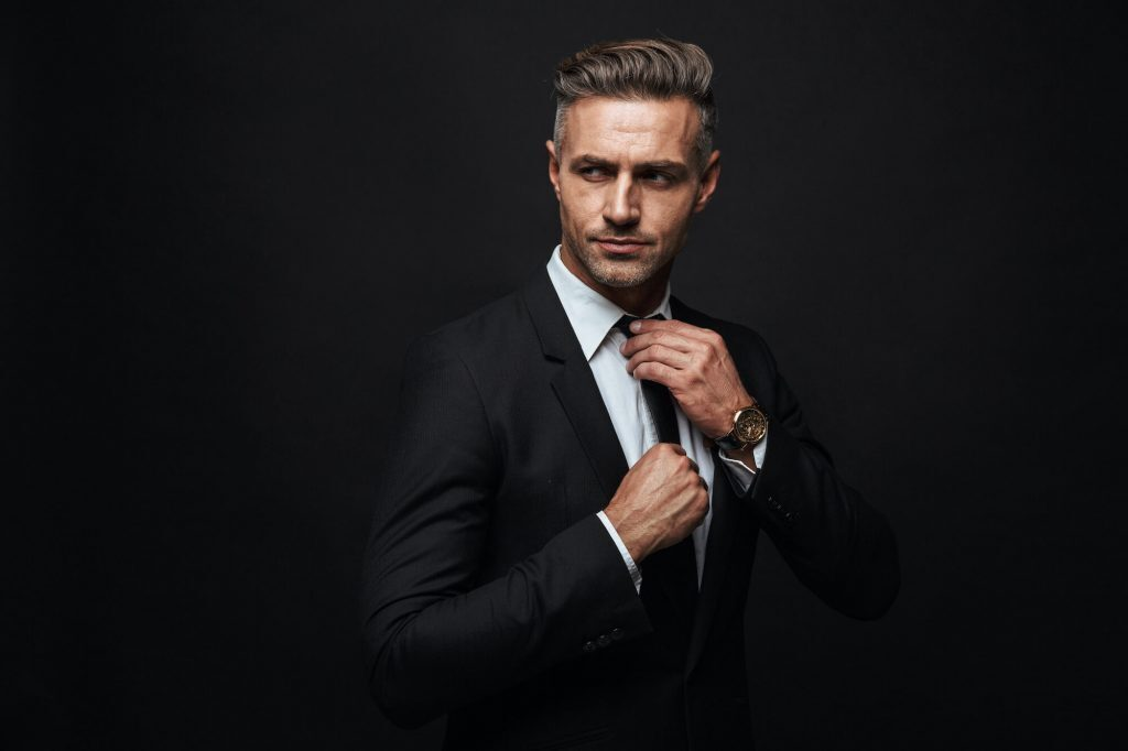Confident man in a business suit