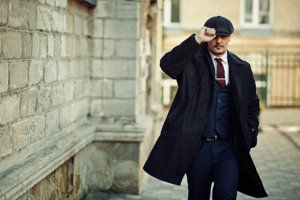 Ma wearing 1920s style suit