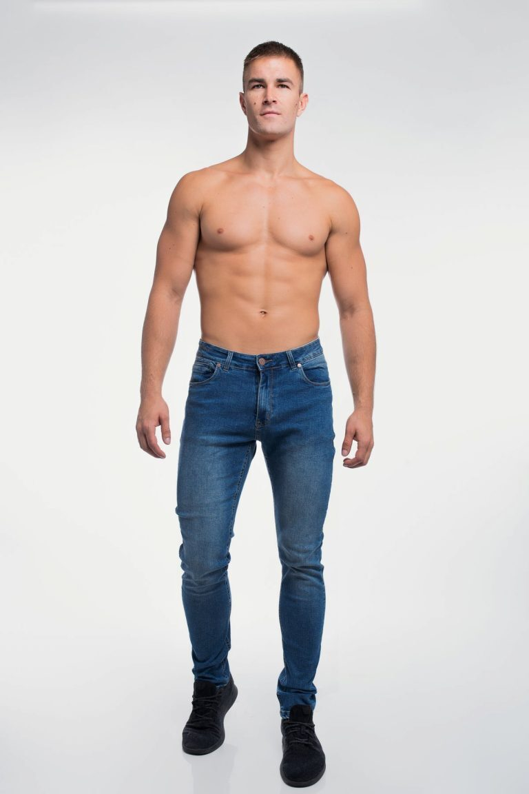 Barbell Apparel Athletic Fit Medium Wash Jeans