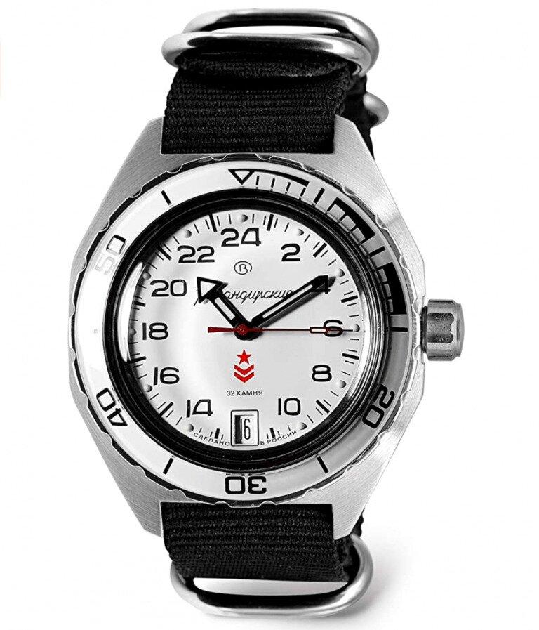 Vostok Komandireskie Watch with black band