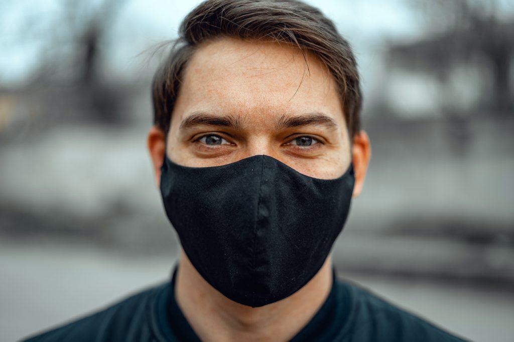 Portrait man in medical mask