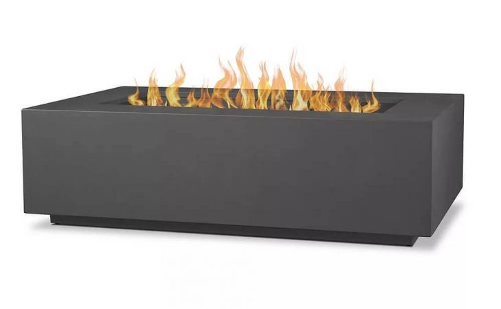 Aegean Large Rectangle LP Fire Table