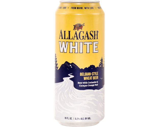 Can of Allagash White Wheat beer