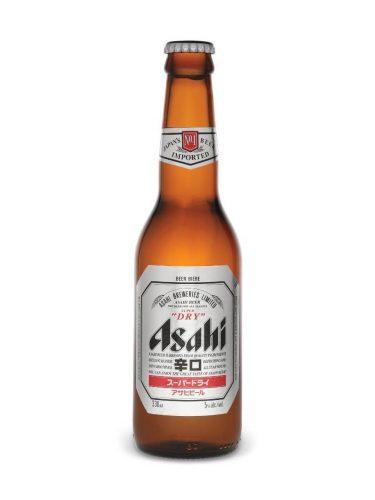 Bottle of Asahi super dry beer