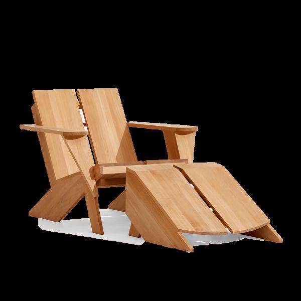 Crate & Barrel Paso Teak Outdoor Adirondack Chair