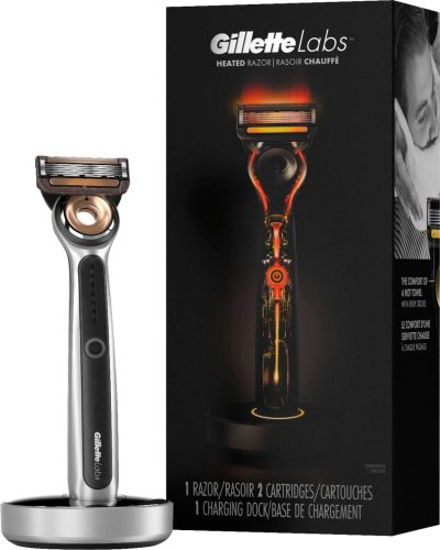 Gillette Labs Heated Razor next to product box