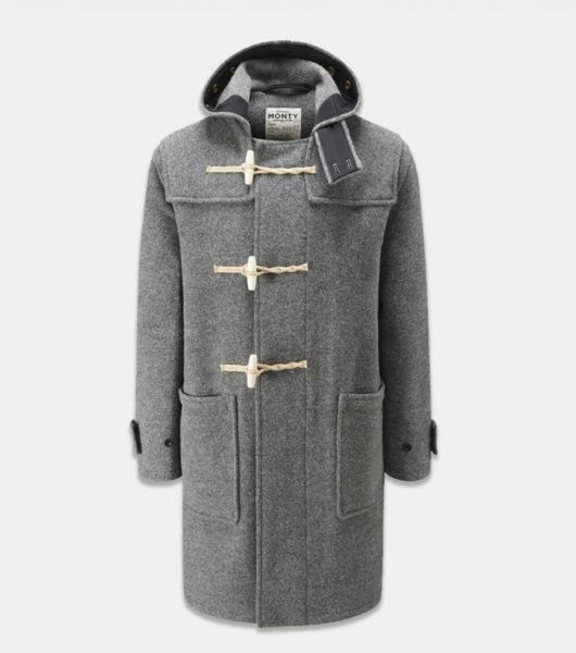 Gloverall Monty Duffle Coat in grey
