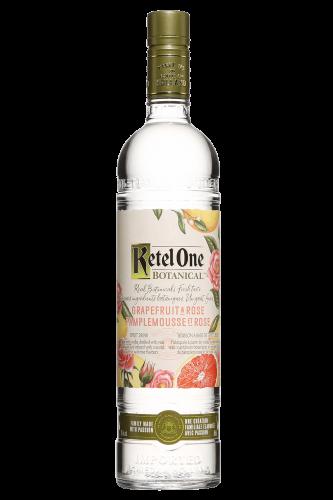 Ketel One Botanicals vodka bottle against white background