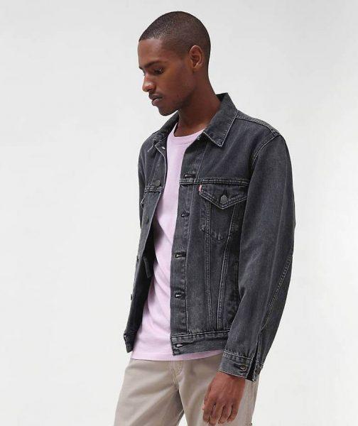 Man in Levis Denim Trucker Jacket