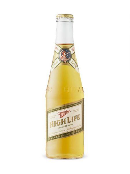 Bottle of Miller High Life beer