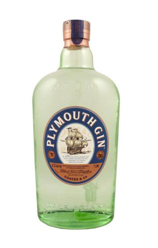 Bottle of Plymouth gin