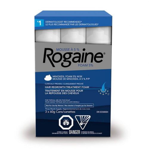 Rogaine 5% Minoxidil Extra Strength Hair Regrowth Treatment Foam