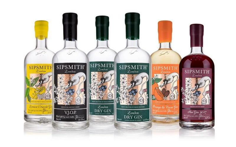 Mixed case of Sipsmith gin