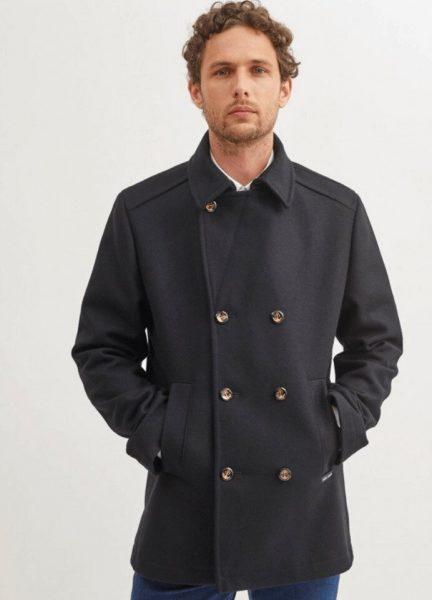 Man in St. James St. Hilaire pea coat