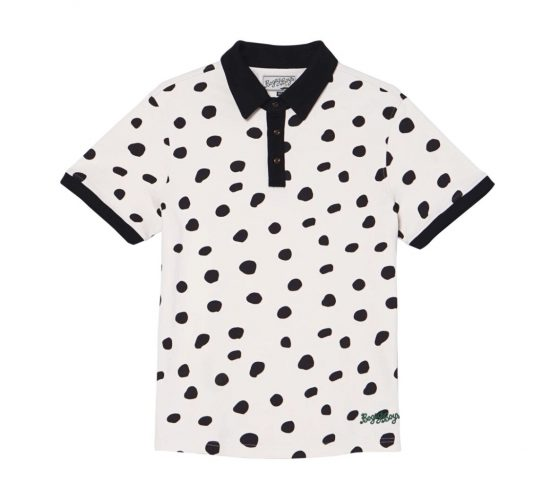 Bogey Boys Dalmatian Polo in black and white