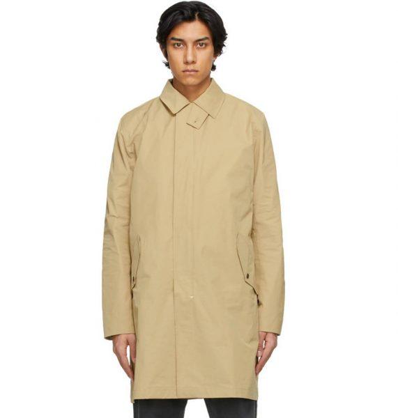 Man in Rag & Bone trench coat