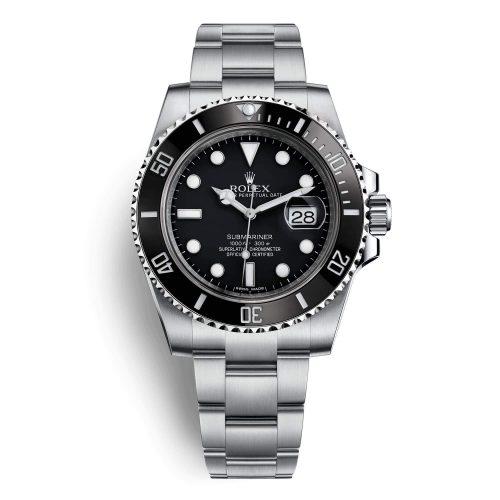 Rolex Submariner with black bezel