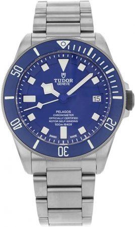 Tudor Pelagos watch with blue face