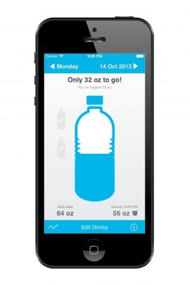 Waterlogged hydration app